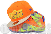 Cleveland Cavaliers Flaring Solar Outburst Metallic Silver Royal LeBron XII '6 Meridians' New Era Hat