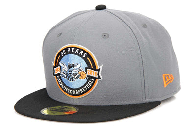 Charlotte Hornets 30 Years Air Max 95 Wolf Grey Safety Orange New Era Fitted Cap