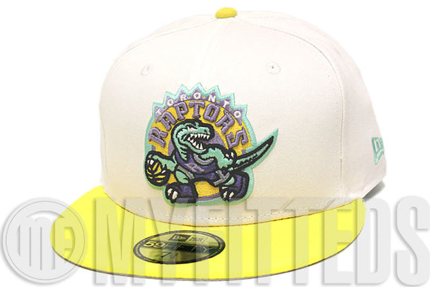 Toronto Raptors Glacial White Maize Yellow Lavender Seaglass LeBron X Low New Era Hat