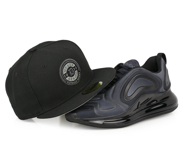 "DETROIT TIGERS 1935 WORLD SERIES AIR MAX 720 ""TOTAL ECLIPSE"" MATCHING NEW ERA HAT"