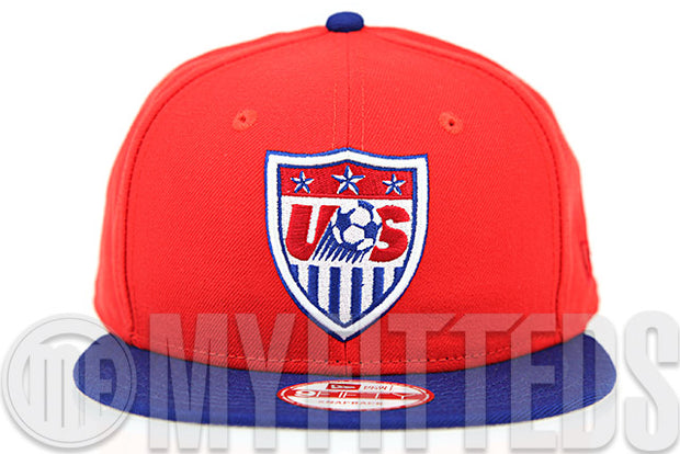 Team USA Soccer Erupting Magma Club Royal Garnet Fire Official Colorway New Era Snapback Hat