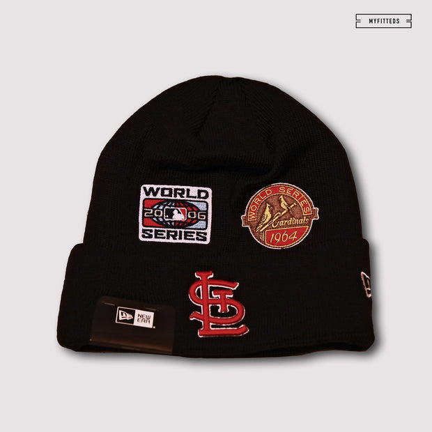 ST. LOUIS CARDINALS TEAM ACCOLADES DOUBLE KNIT CUFFED NEW ERA SKULLY