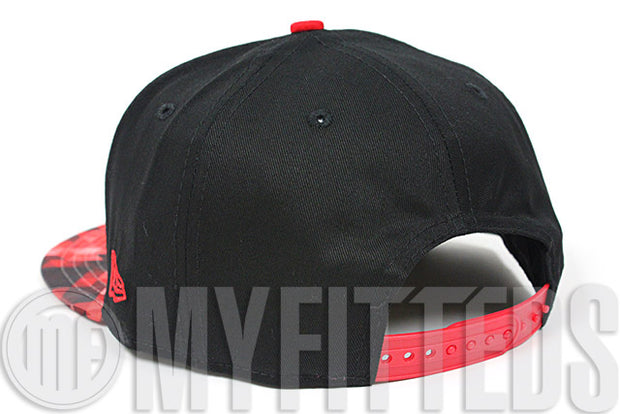 Miami Heat Black Red Pattern Optic Multi Color Official NBA 9Fifty New Era Snapback