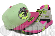 Vancouver Grizzlies Bright Mint French Rose Pink Metallic Silver Gunmetal New Era Hat
