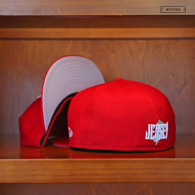 "NEW JERSEY NJ ""JERSEY"" SCARLET NEW ERA 59FIFTY FITTED CAP"