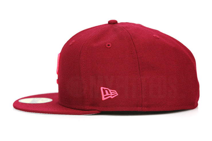 The P Russet Sunset Infrared Bliss Yeezy The Life of Pablo Inspired New Era Fitted Cap