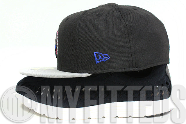Oakland Athletics Jet Black Placid Grey Pink Silver Blue Air Jordan V Bel-Air New Era Hat