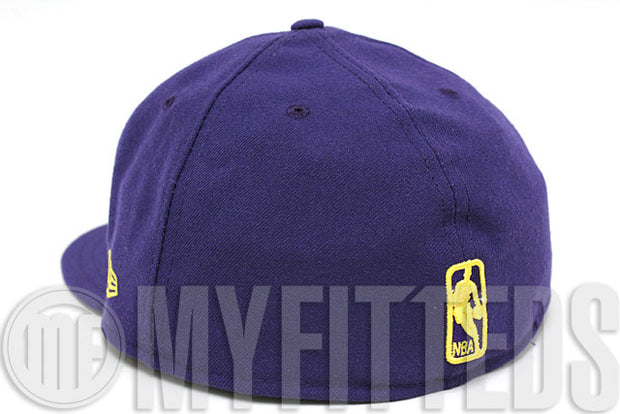 Los Angeles Lakers Dark Concord Maize Yellow Official Team Color NBA New Era Fitted Hat