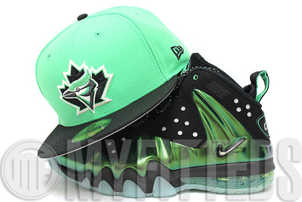 Toronto Blue Jays Treasure Isle Green Black White Metallic Silver New Era Hat
