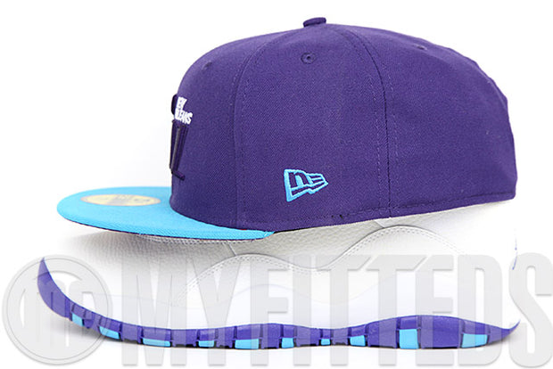 New Orleans Jazz 2008 NBA All Star Game Air Jordan VIII Aqua Air Jordan X Charlotte New Era Fitted Hat