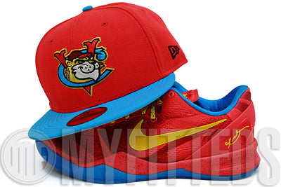 Tri-City Valleycats Molten Magma Blue Raspberry Kobe VIII System Year of the Horse New Era Hat