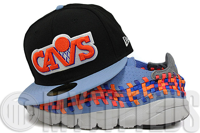 Cleveland Cavaliers Black Sky Blue February 7-9, 1995 All Star Game Retro Side Patch New Era Hat