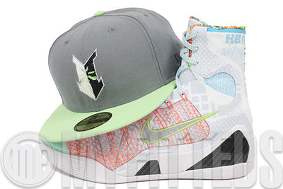 Indianapolis Indians Wolf Storm Gray Liquified Lime Glacial White What the Kobe IX New Era Hat