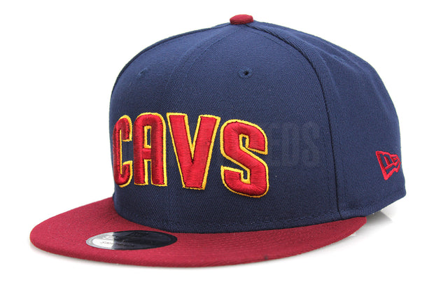 Cleveland Cavaliers CAVS Midnight Navy Russet Sunset Autumn Gold New Era Snapback Hat