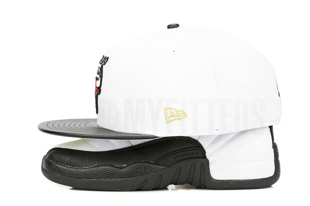 "Chicago Bulls Glacial White Jet Black Air Jordan XII ""Taxi"" Matching New Era Hat"