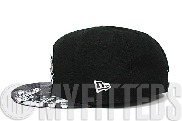 Star Wars Stormtrooper Jet Black Vibrant Eerie Glow in the Dark Character Stance New Era Fitted Cap