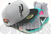 San Antonio Spurs Grey Black February 9-11, 1996 All Star Game Retro Side Patch New Era Hat