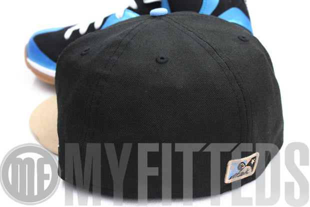 Columbus Clippers Jet Black Sail Stone Mag Blue New Era Fitted Hat