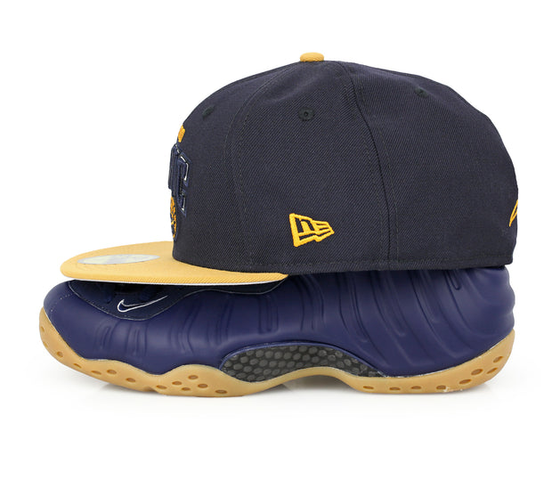ORLANDO MAGIC MIDNIGHT NAVY AIR FOAMPOSITE ONE NAVY / GUM NEW ERA FITTED CAP