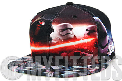 Star Wars Episode VII: The Force Awakens Kylo Ren Major Battle All Over Sublimated New Era Fitted Cap