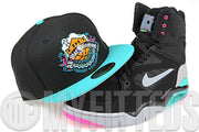 San Antonio Spurs Jet Black Filament 1996 NBA All Star Game Retro Gone Fishing Foamposite Matching New Era Hat
