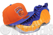 New York Knicks Orangeade Bright Royal Knickerbocker Rear Knicks Foamposite Matching New Era Hat