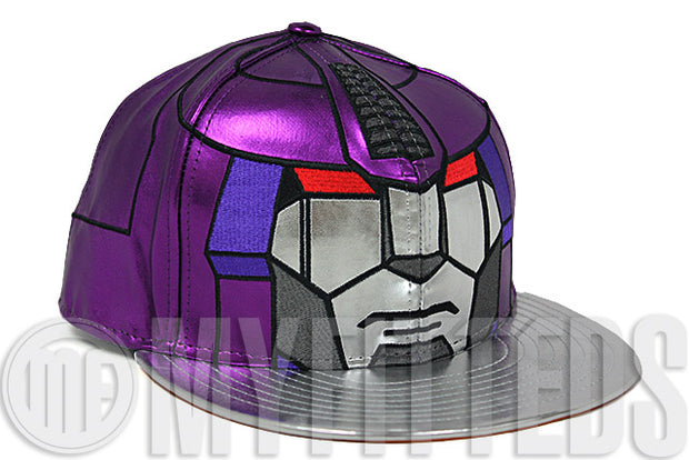 Transformers 4 Age of Extinction Galvatron Character Face Metallic Purple Scarlet Limited Edition New Era Hat