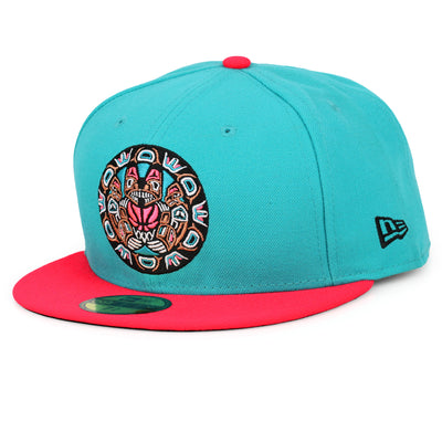 a55a8d3add9 VANCOUVER GRIZZLIES FILAMENT   INFRARED BLISS NEW ERA FITTED CAP