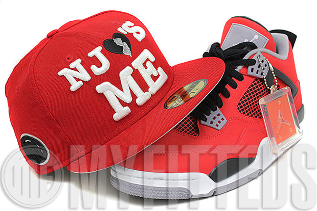 New Jersey NJ Loves Me Wordmark Black All Over New Era 59Fifty Fitted Hat Cap