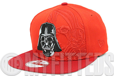 Star Wars Darth Vader Panel Pop Erupting Magma Scarlet 9FIFTY Original Fit New Era Snapback