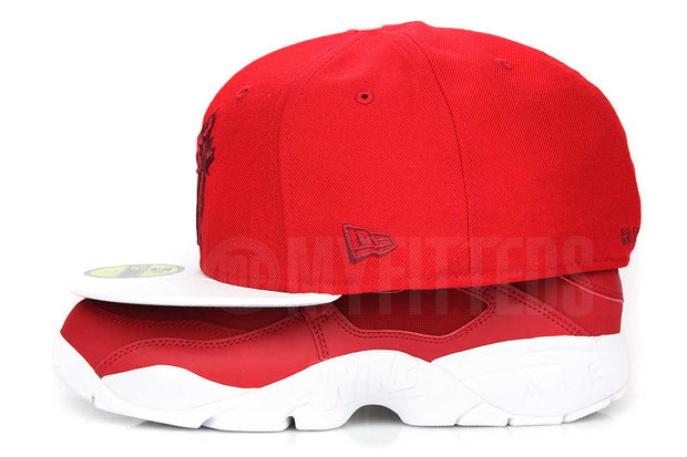 Toronto Blue Jays Scarlet Glacial White Russet Air Diamond Turf Matching New Era Fitted Cap