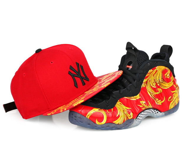 "NEW YORK YANKEES AIR FOAMPOSITE ""SUPREME"" MATCHING NEW ERA STRAPBACK"