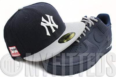 New York Yankees Navy Blue Placid Grey Side Patch Cooperstown New Era Hat