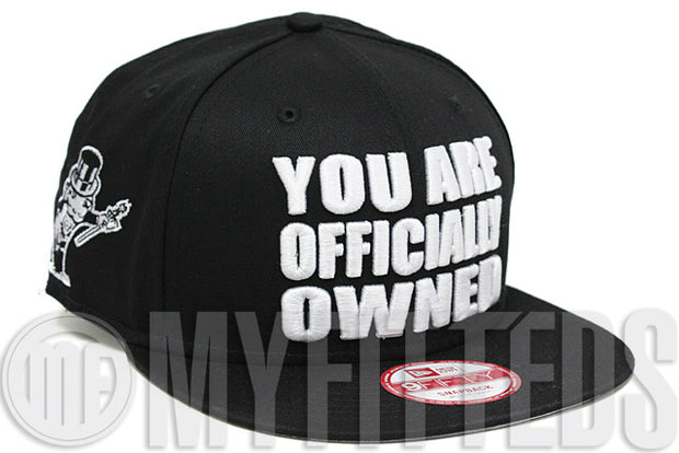 You Are Officially Owned Jet Black Glacial white Monopoly Board Game New Era Snapback