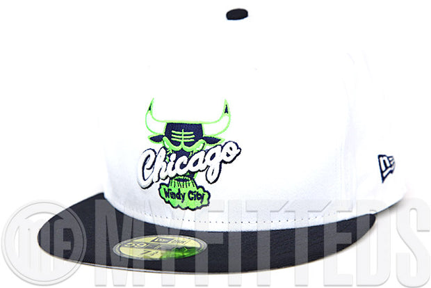 Chicago Bulls Glacial White Midnight Navy Air Jordan VI Low Ghost Green Matching New Era Hat