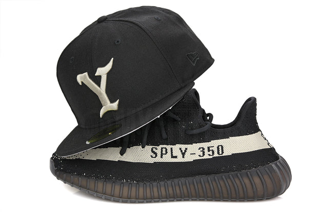 The Y Jet Black Mars Grey Yeezy Life of Pablo Inspired Adidas Yeezy Boost 350 V.2 BY1604 New Era Hat