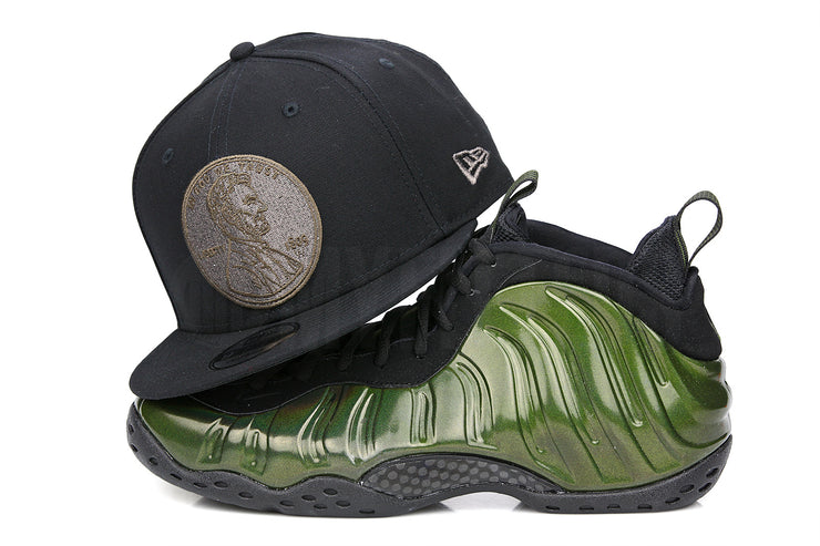 "Penny 1� One Cent Jet Black Air Foamposite One ""Legion Green"" Matching New Era Snapback"
