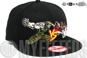 Guile Vs. M. Bison Street Fighter Jet Black Woodland Camo Capcom New Era Snapback