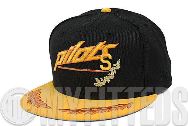 Seattle Pilots Jet Black Autumnal Equinox Charred Clay Hazel Custom New Era Fitted Cap