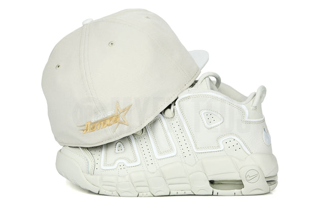 "Houston Astros Sandstone Glacial White Air More Uptempo 96 ""To the Bone"" New Era Fitted Cap"