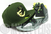 Vancouver Grizzlies Army Olive Neon Yellow Dunkman LeBron XI New Era Hat