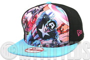 Marvel The Avengers Team Stance Jet Black Process Blue Berry Pink A-Frame New Era Snapback