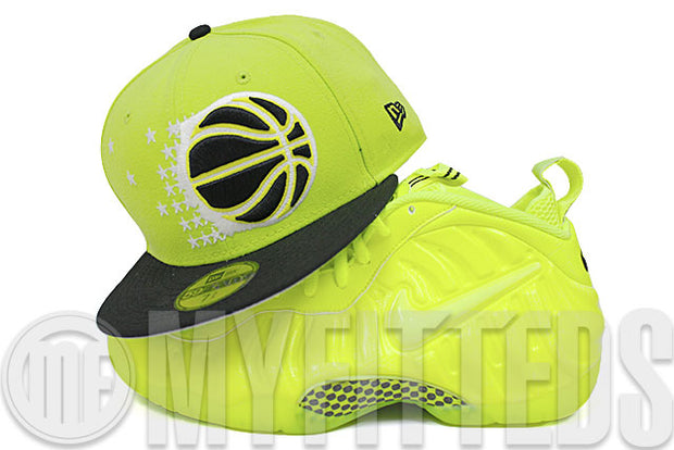 Orlando Magic Voltage Lime Black White Air Jordan X Venom Matching New Era Hat