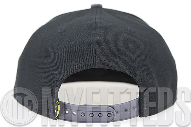 Batman Jet Black Carbon Graphite White Trifecta Reflective New Era Original Fit Snapback