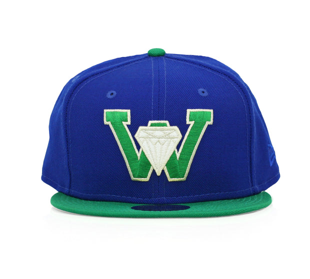 WATERLOO DIAMONDS COLLEGIATE ROYAL / LUCKY GREEN NEW ERA FITTED CAP