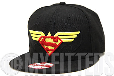 "Batman Superman Wonder Woman: Trinity ""The World's Finest Trinity"" Custom New Era Snapback"