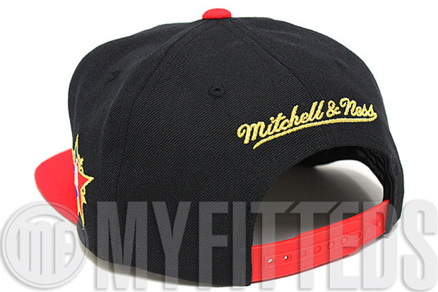 Western Conference 2008 NBA All Star Game Black Red Old Gold Mitchell & Ness Snapback