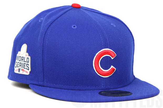 Chicago Cubs 2016 MLB World Series Game On-Field Royal Blue New Era Fitted Cap