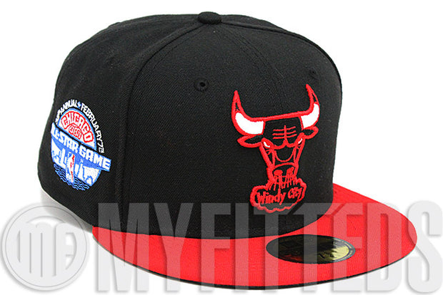 Chicago Bulls 1988 NBA All Star Game Side Patch Team Colored New Era Fitted Hat