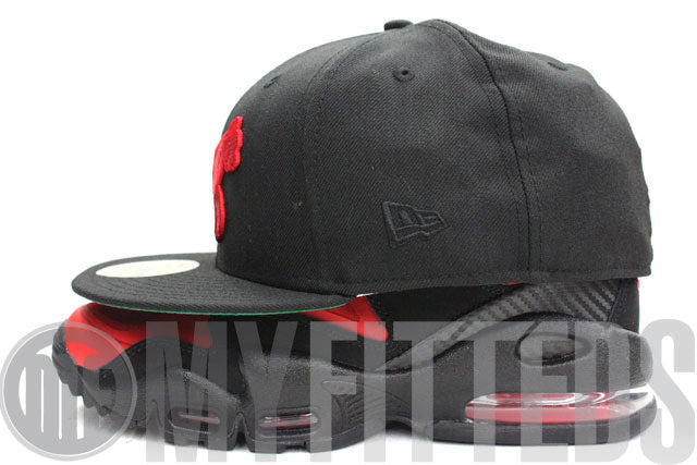 Detroit Tigers Black Garnet Fire 1901 Green Brim Retro New Era Hat